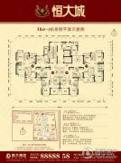 恒大城3室2厅2卫80--123平方米户型图