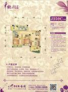 碧桂园豪园2室2厅1卫64--68平方米户型图