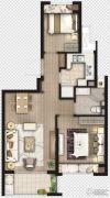 象屿虹桥悦府2室2厅1卫0平方米户型图