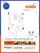 碧桂园东海岸1室1厅1卫39平方米户型图
