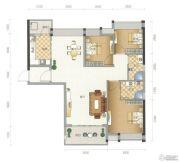 星尚3室2厅2卫99平方米户型图