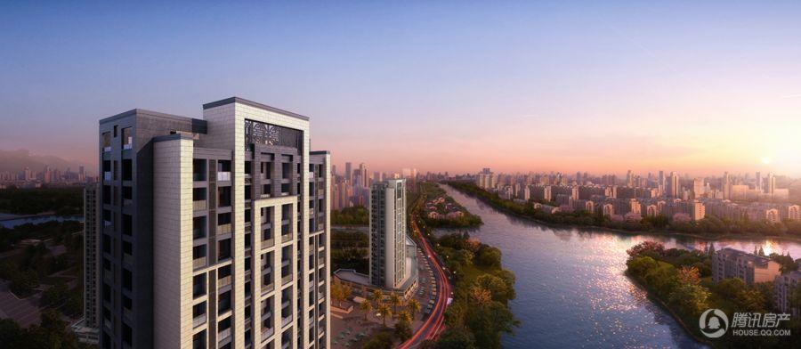 鸿泊湾项目城市俯瞰图