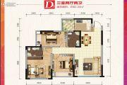 锦绣星城3室2厅2卫82平方米户型图