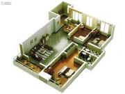 启迪国际城仕家3室2厅2卫133平方米户型图