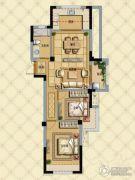 璞缇学苑2室2厅1卫75平方米户型图