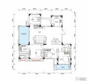 玫瑰园4室2厅2卫148平方米户型图