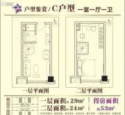 星信国际公寓1室1厅1卫29平方米户型图