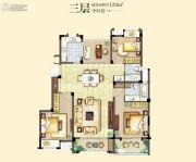 融侨观邸4室2厅2卫128平方米户型图