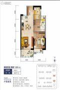 海口碧桂园2室2厅1卫62平方米户型图