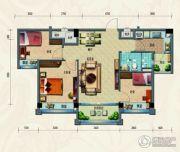 淄博碧桂园3室2厅1卫91平方米户型图