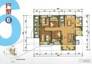 锦发君城4室2厅3卫142平方米户型图
