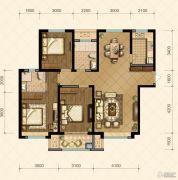国信・国际公馆3室2厅2卫132--134平方米户型图