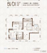 中铁城3室2厅1卫0平方米户型图