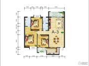 金域名都3室2厅2卫141平方米户型图