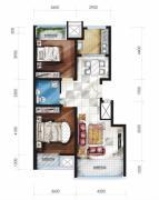 豪邦缇香公馆2室2厅1卫0平方米户型图