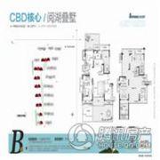 建业十八城5期山水湖城3室3厅3卫143平方米户型图