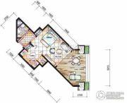东和福湾1室0厅1卫68平方米户型图