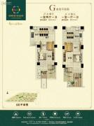 新田城1室2厅1卫49--54平方米户型图