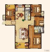 广厦财富中心4室2厅2卫163--168平方米户型图