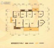 南宁江南万达广场3室2厅2卫144平方米户型图