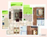 宏宇・景裕豪园3室2厅2卫89平方米户型图