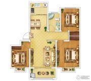 钓鱼一�院3室2厅1卫95平方米户型图