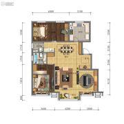 万科・招商 城市之光2室3厅2卫0平方米户型图