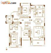 南湾・琨御府3室2厅2卫135平方米户型图