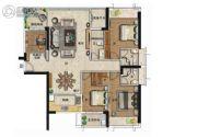 海�Z天翡4室2厅2卫148平方米户型图