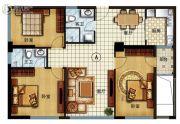 长安公馆3室2厅2卫128平方米户型图