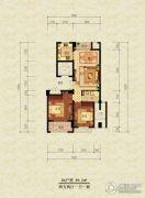 漫城公寓2室2厅1卫89平方米户型图