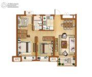 金辉尊域雅苑3室2厅1卫89平方米户型图