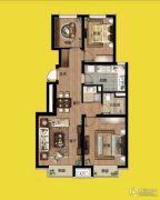 万科金域长春3室1厅1卫95平方米户型图