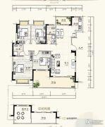 泰达・润景园4室2厅1卫151--152平方米户型图