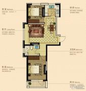澳海澜庭2室2厅1卫80平方米户型图