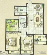 绿都万和城3室2厅1卫96平方米户型图