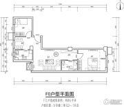 首开保利锦都家园2室2厅1卫0平方米户型图