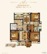 金城豪庭4室2厅2卫115平方米户型图