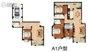鹏润・格林上郡4室3厅3卫192平方米户型图
