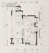 时代花城3室2厅2卫95平方米户型图