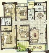 绿都万和城4室2厅2卫143平方米户型图