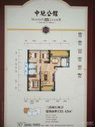 中驰公馆3室2厅2卫133平方米户型图