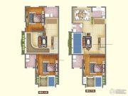 艾山温泉艾巢3室2厅4卫155平方米户型图