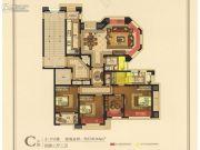 紫荆假日广场4室2厅2卫130平方米户型图