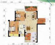 冠亚・御龙湾2室2厅1卫90平方米户型图