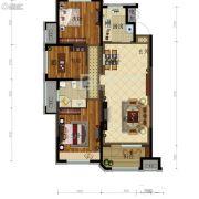 金地锦城3室2厅1卫110平方米户型图