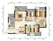 宏联・美誉名座3室2厅0卫107平方米户型图