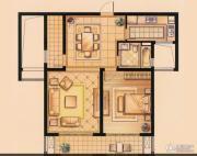 华润橡树湾1室2厅1卫0平方米户型图
