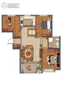 紫微台3室2厅1卫100--106平方米户型图