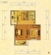 北斗星城・御府Ⅱ期2室1厅1卫68平方米户型图
